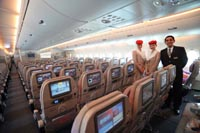 Welcome to the A380 Economy Class © Emirates Airlines