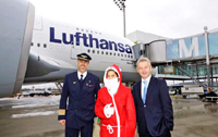 St Nicholas in front of LH A380 © Lufthansa