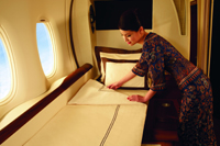 First Class Suite im A380 © Singapore Airlines
